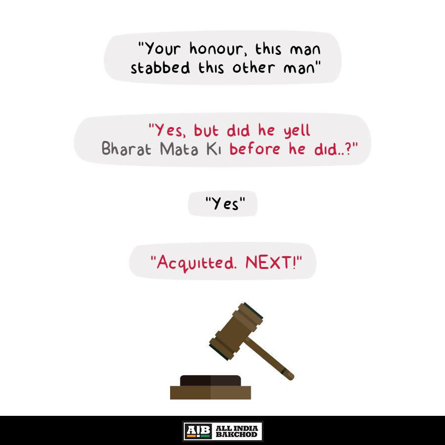 A caricature on the legal system in India