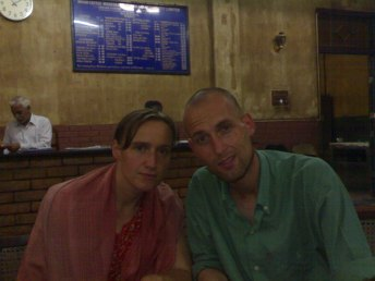 Conny and Sebastian at Indian Coffee House