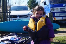 Sofia posing for canoeing